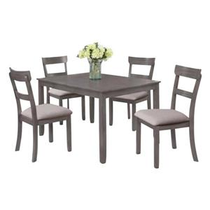 Oakland Living Modern Dining Set - Grey - Set of 5