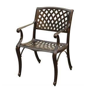 Oakland Living Outdoor Patio Chair - 35-in x 22-in - Bronze