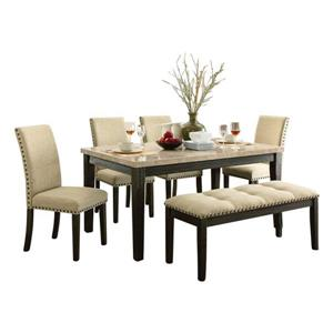 Oakland Living Dining Set - Brown and Beige - Set of 6