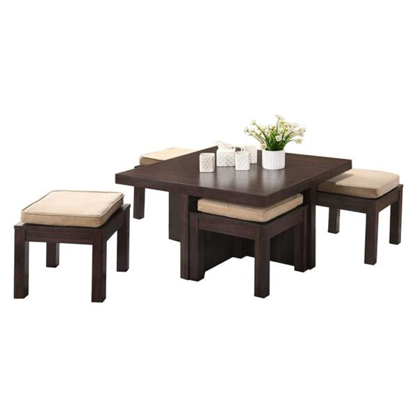 Oakland Living Coffee Table Set 4 Stools Brown Set Of 5 Rona