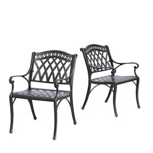 Oakland Living Patio Chair - Armchair - 33-in x 22-in - Antique Copper - Set of 2