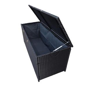 Oakland Living Storage Box - 53-in x 22-in x 24-in - Black Resin Wicker