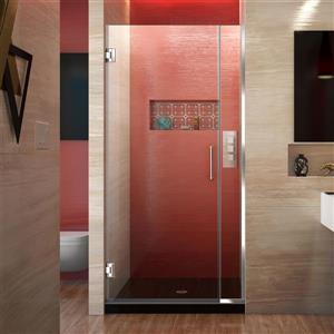 Porte de douche sans cadre Unidoor Plus de DreamLine, 31 po x 72 po, chrome