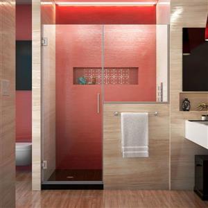 Porte de douche sans cadre Unidoor Plus de DreamLine, 57 po x 72 po, nickel brossé
