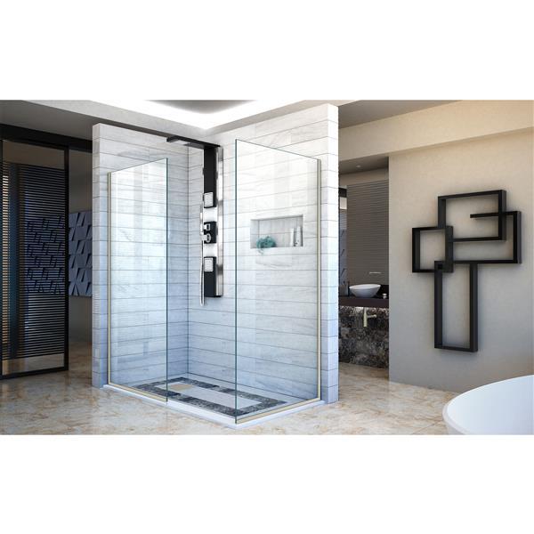 Porte de douche sans cadre Linea de DreamLine, 34 po x 72 po, nickel brossé