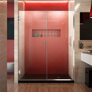 Porte de douche sans cadre Unidoor Plus de DreamLine, 56.5 po x 72 po, chrome