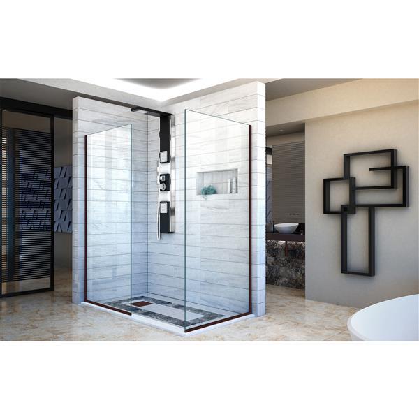 DreamLine Linea Shower Door - Alcove Installation - 34-in - Oil Rubbed Bronze