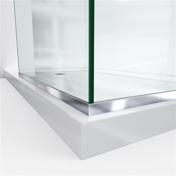 DreamLine Linea Shower Door - Clear Glass - 30-in - Satin Black