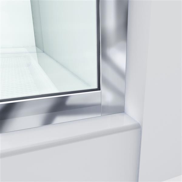 Porte de douche en verre Linea de DreamLine, 34 po x 72 po, nickel brossé