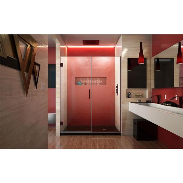DreamLine Unidoor Plus Shower Door - Alcove Installation - 54-in - Oil Rubbed Bronze