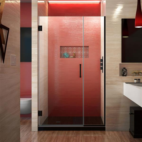 DreamLine Unidoor Plus Shower Door - Alcove Installation - 44-in - Satin Black
