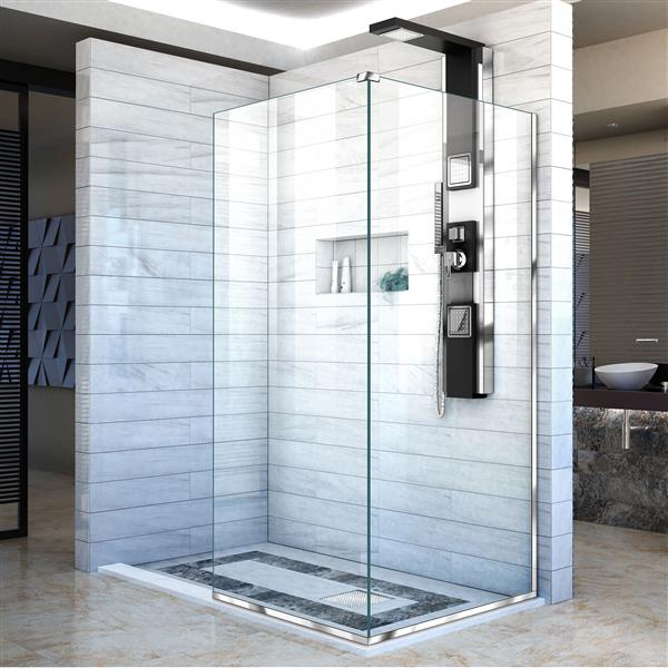 DreamLine Linea Shower Door - Clear Glass - 30-in - Chrome