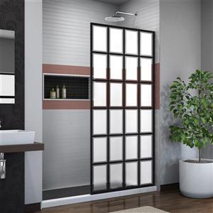 DreamLine French Linea Shower Door - Alcove Installation - 34-in - Satin Black