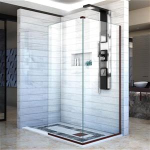 Porte de douche en verre Linea de DreamLine, 30 po x 72 po, bronze huilé