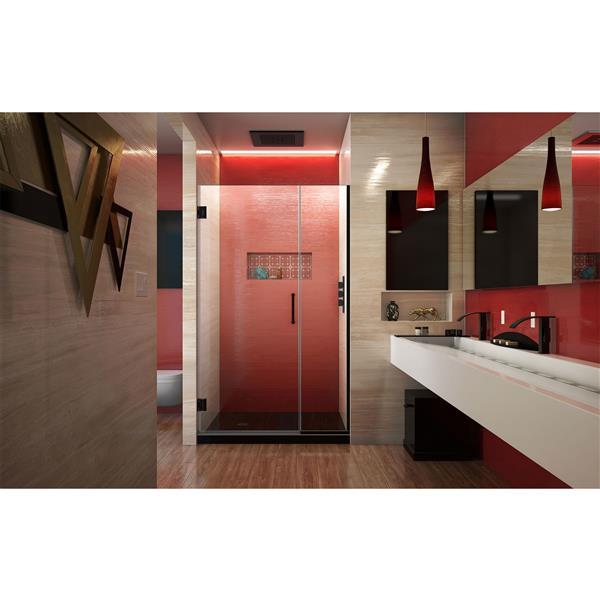 DreamLine Unidoor Plus Shower Door - Alcove Installation - 42-in - Satin Black