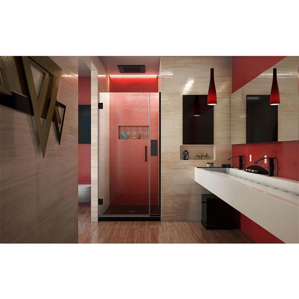 DreamLine Unidoor Plus Shower Door - Alcove Installation - 35.5-in - Satin Black