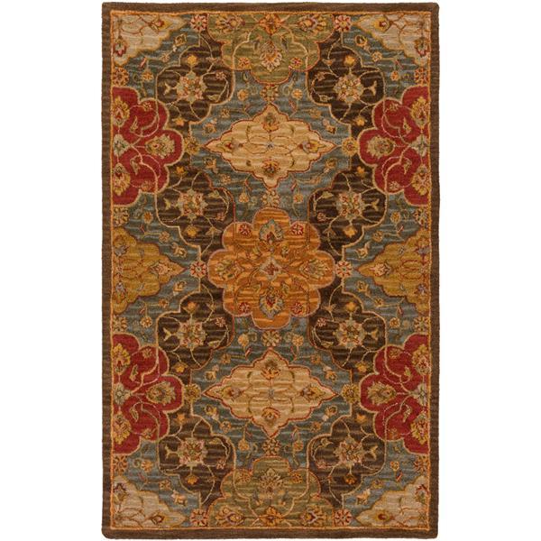Surya Carrington Traditional Area Rug - 6-ft x 9-ft - Rectangular - Dark Brown