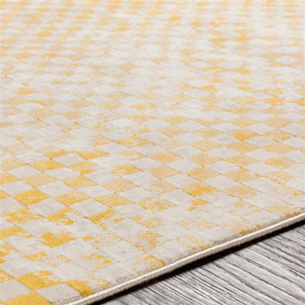 Surya City Modern Area Rug - 7-ft 10-in x 10-ft 3-in - Rectangular - Yellow