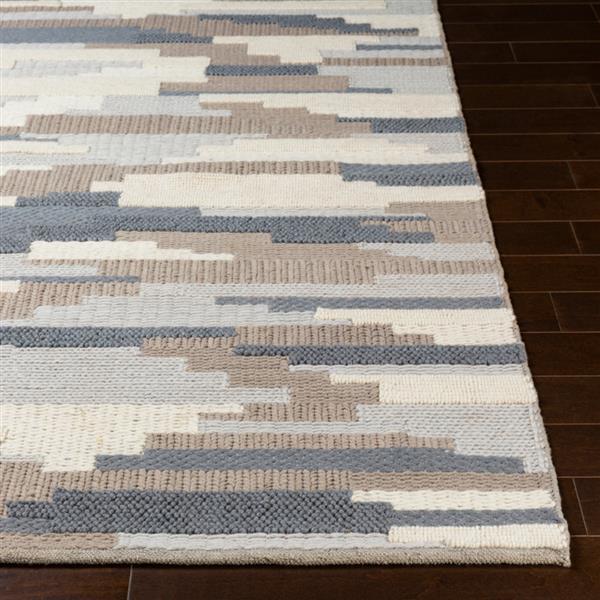 Surya Cocoon Texture Area Rug - 5-ft x 7-ft 6-in - Rectangular - Grey