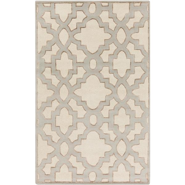 Surya Modern Classics Transitional Area Rug - 5-ft x 8-ft - Rectangular - Cream