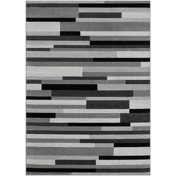 Surya City Modern Area Rug - 7-ft 10-in x 10-ft 3-in - Rectangular - Grey