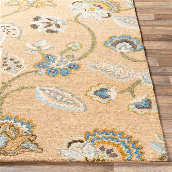 Surya Chanceux Transitional Area Rug - 8-ft x 10-ft - Rectangular - Wheat