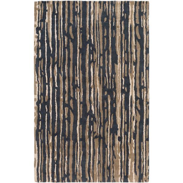 Surya Modern Classics Modern Area Rug - 5-ft x 8-ft - Rectangular - Black