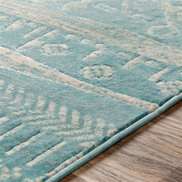 Surya City Transitional Area Rug - 7-ft 10-in x 10-ft 3-in - Rectangular - Aqua