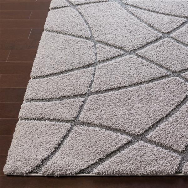 Surya Cut & Loop Shag Area Rug - 5-ft 3-in x 7-ft 3-in - Rectangular - Grey
