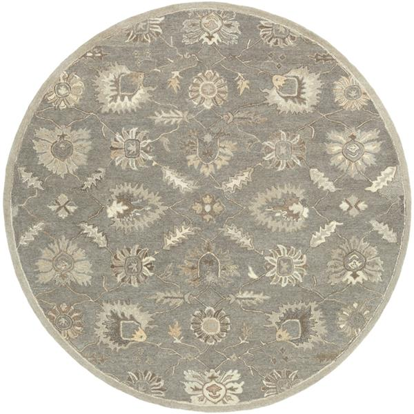 Surya Caesar Traditional Area Rug - 4-ft - Round - Taupe