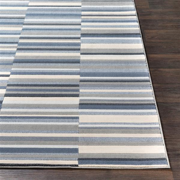 Surya City Modern Area Rug - 7-ft 10-in x 10-ft 3-in - Rectangular - Navy
