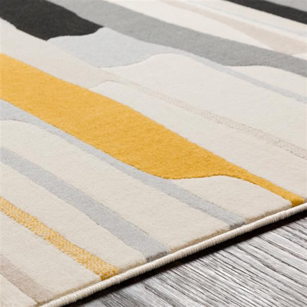 Surya City Modern Area Rug - 5-ft 3-in x 7-ft 3-in - Rectangular - Yellow