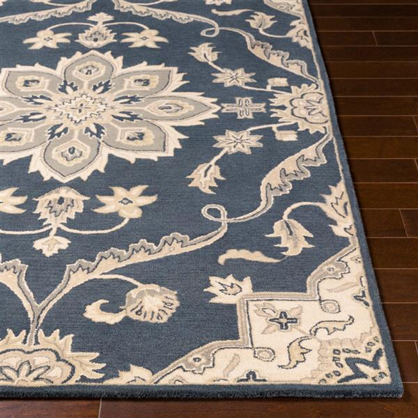 Surya Caesar Traditional Area Rug - 5-ft x 8-ft - Rectangular - Blue/Beige