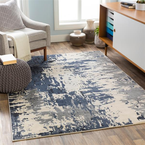 Surya City Modern Area Rug - 5-ft 3-in x 7-ft 3-in - Rectangular - Navy
