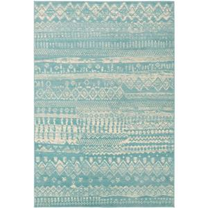 Surya City Transitional Area Rug - 5-ft 3-in x 7-ft 3-in - Rectangular - Aqua