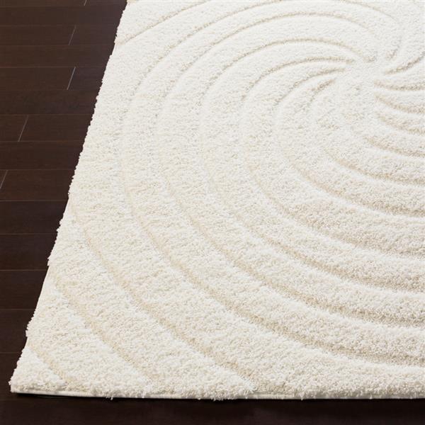 Surya Cut & Loop Shag Area Rug - 5-ft 3-in x 7-ft 3-in - Rectangular - Cream