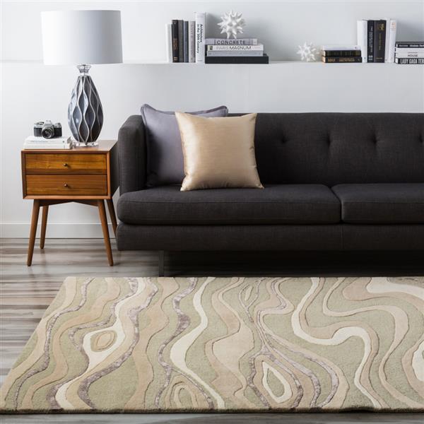 Surya Modern Classics Modern Area Rug - 8-ft x 11-ft - Rectangular - Taupe