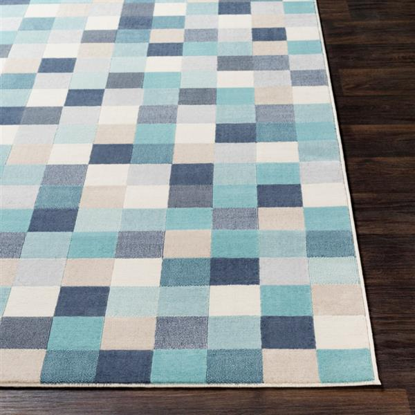Surya City Modern Area Rug - 9-ft 3-in x 12-ft 3-in - Rectangular - Aqua