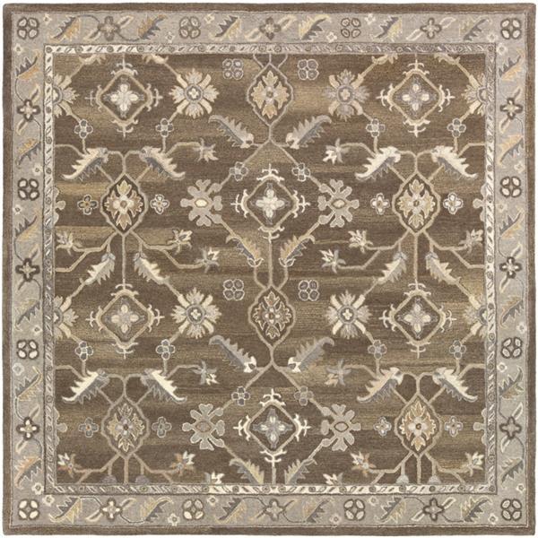 Surya Caesar Traditional Area Rug - 8-ft - Square - Dark Brown