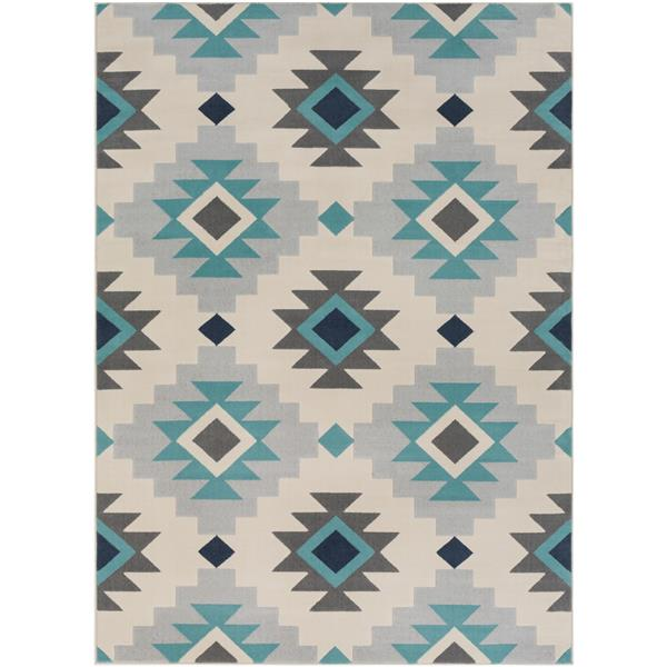 Surya City Bohemian Area Rug - 7-ft 10-in x 10-ft 3-in - Rectangular - Teal