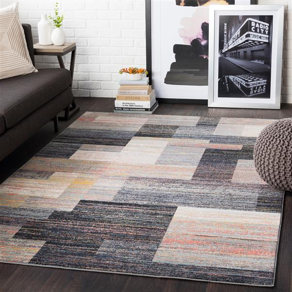 Surya City Modern Area Rug - 5-ft 3-in x 7-ft 3-in - Rectangular - Black