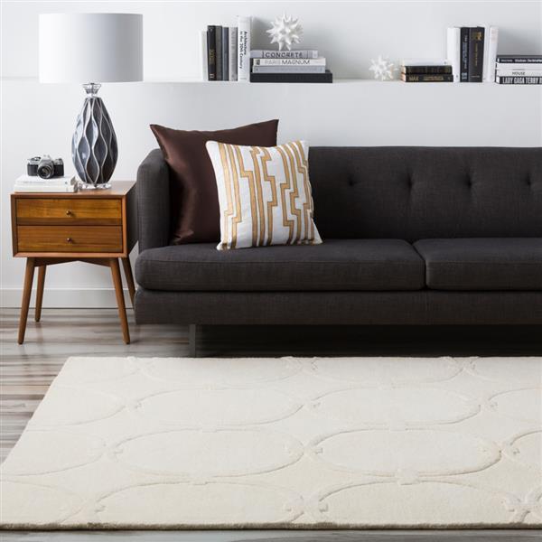 Surya Modern Classics Transitional Area Rug - 8-ft x 11-ft - Rectangular - Ivory