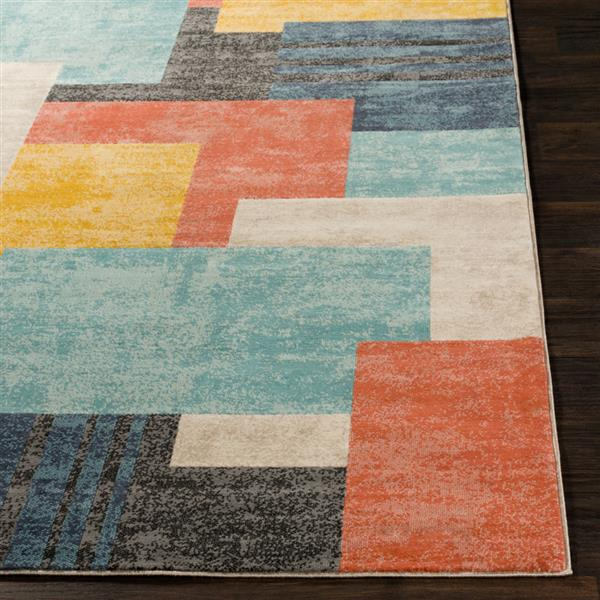 Surya City Modern Area Rug - 9-ft 3-in x 12-ft 3-in - Rectangular - Coral