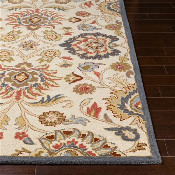 Surya Caesar Traditional Area Rug - 7-ft 6-in x 9-ft 6-in - Rectangular - Cream