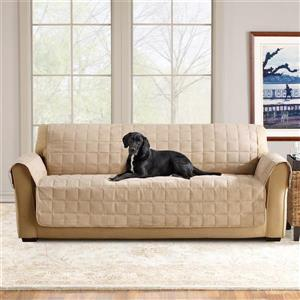 Sure Fit Ultimate Waterproof Sofa Cover - 96-in x 37-in - Taupe