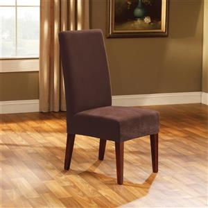Sure Fit Stretch Pique Dining Chair Cover - 18.5-in x 42-in - Chocolate
