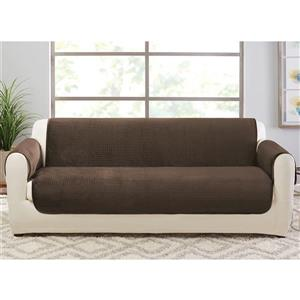 Sure Fit Elegant Pick Stitch Sofa Cover - 96-in x 37-in - Brown