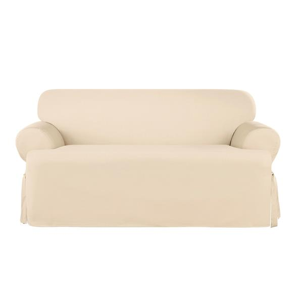 Sure Fit Sailcloth Loveseat Cover - 73-in x 37-in - Natural