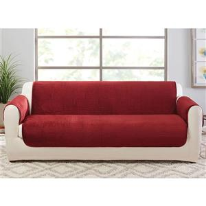 Sure Fit Elegant Pick Stitch Sofa Cover - 96-in x 37-in - Paprika