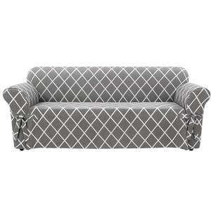 Sure Fit Lattice Sofa Cover - 96-in x 37-in - Grey